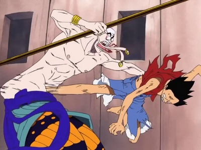 Luffy v/s Eneru (One Piece) Luffy's epic kick..........he he ehe