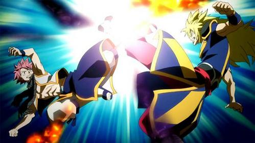 Natsu Dragneel VS Zancrow from Fairy Tail