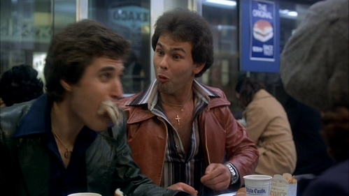 Paul Pape with his eyebrows raised as he and Joey Cali tease John Travolta :D