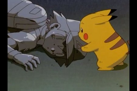Here's a sad scene from Pokemon the first movie