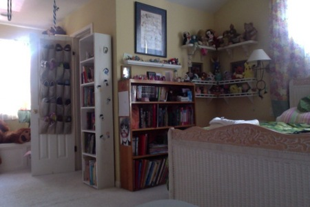 My room is very big and full of many things