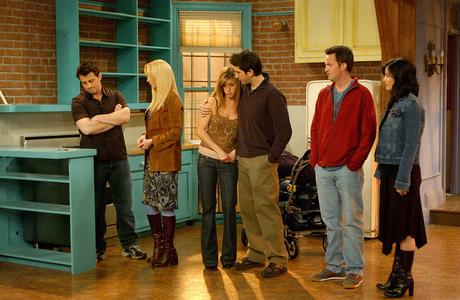The final scene from Friends... Sad in a bittersweet way.