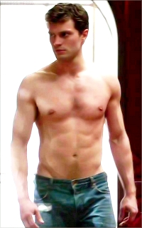 Jamie Dornan shirtless in a scene from 50 Shades of Grey<3