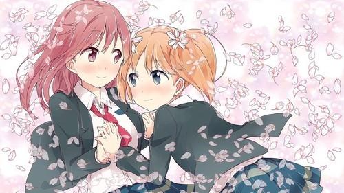 Haruka and Yuu from Sakura Trick