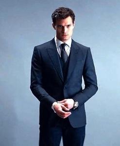 Jamie Dornan(as Christian Grey) standing<3
