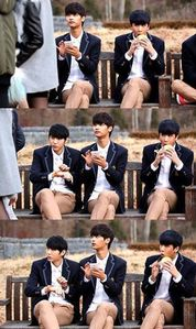 I want them to do a 'high-school-boys-in-love' concept