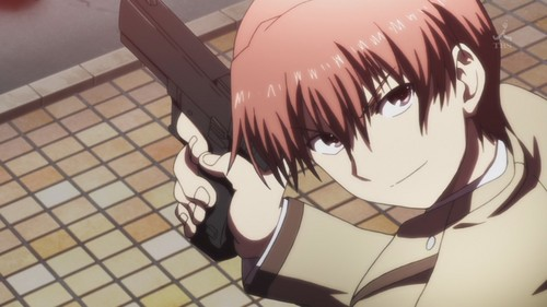 The term is actually Gary-Stu, but whatever. Anyway, here. Otonashi. He seemed okay at first, if only a bit,,, yeah Then आप see his past and his character,,,,, Honestly I would call Yuri a sue as well but her past was the only thing really sue-ish about her.