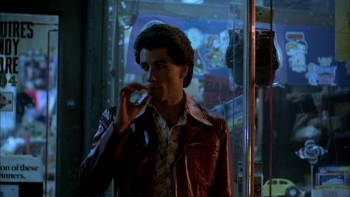 John wearing leather and smoking :)