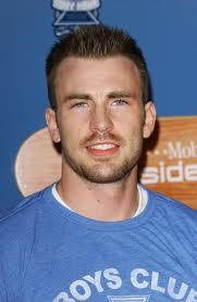 Chris Evans with spiky hair<3