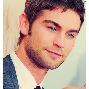 Chace and his ice blue sapphire eyes stand out like laser beams<3