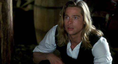 Brad Pitt with long hair<3