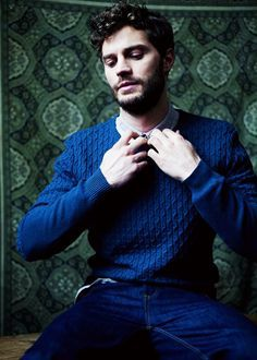 Jamie wearing a sweater<3