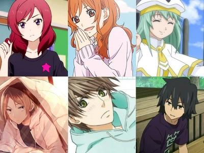 Females: - Maki Nishikino (Love Live! School Idol Project) - Asako Natsume (Tonari no Kaibutsu-kun) - Alice Carroll (Aria the Animation) Males: - Kenma Kozume (Haikyuu!!) - Ritsu Onodera (Sekai-ichi Hatsukoi) - Jinta Yadomi (AnoHana)