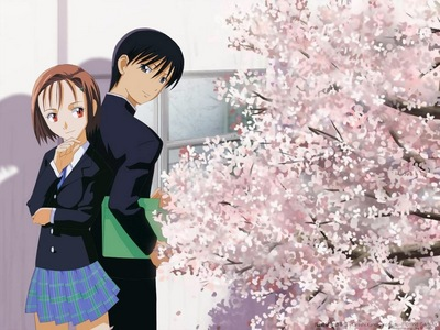 The Future Di- yeah, no. Alright, being serious because there are some actual good ones. His and Her Circumstances (AKA Kare Kano) *pic* Fruits Basket (The Manga lebih so than the anime, but the Anime is still sweet) Ouran High School Host Club (Same as Fruits Basket) Kanon Clannad (Have not seen myself, but I've heard it's good) Air TV (Same as Clannad) Romeo x Juliet (some fighting, but nothing gory)