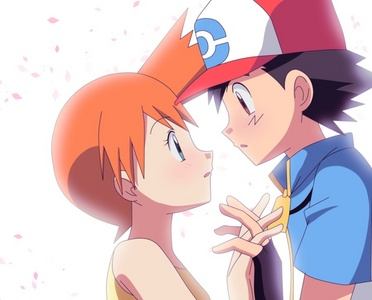 I like ash with misty because in some episodes ash loves misty.