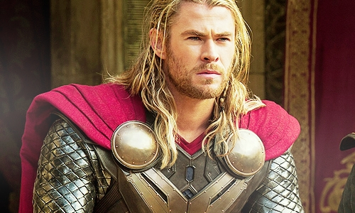 Chris Hemsworth as Thor,the God of Thunder<3