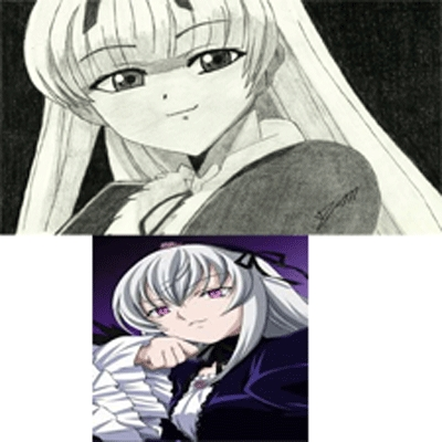 To me Gretel (Black Lagoon) and Suigintou (Rozen Maiden) look very identical.