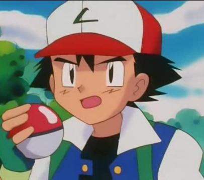 Satoshi-kun! (Ash in the english dub) from Pokemon has black hair!