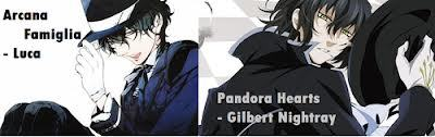 Luca from Arcana Famiglia and Gilbert Nightray from Pandora Hearts look almost identical.
