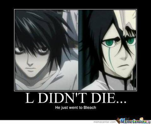 l from death note and Ulquiorra from Bleach