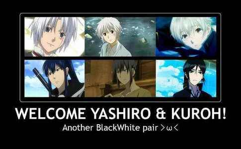 How about two sets of three Allen (DGM) Shion (NO6) and Shiro (K) Kanda, Nezumi and Kuroh (Same Anime and Order)
