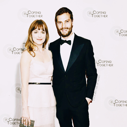 Jamie Dornan with Dakota Johnson<3