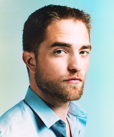my sexy Rob in a light blue shirt<3