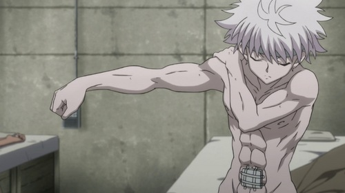 Killua shirtless...