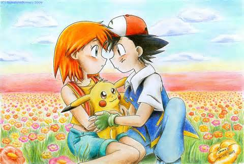 Even though I ship may x ash,dawn x ash,and ash x misty I think ash's girlfriend(if it happened) it would be misty of course!