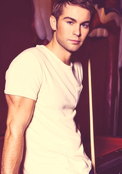 Chace wearing white<3