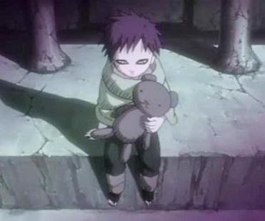 Gaara was pretty lonely as a kid and also killed some people.