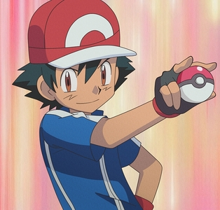 Well This is my opinion I have A Crush On Ash And He Holds A Pokemball a lot so yea...