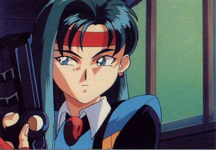 anime ladies with guns does it for me. Kiyone from Tenchi.