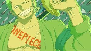 I have a huge crush on Roronoa Zoro from One Piece. Zoro holding his katana:
