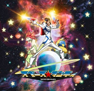 Space dandy he is a dandy guy from space!