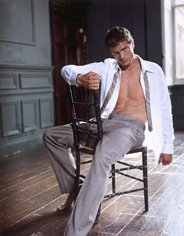 Jamie with an open shirt<3