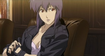 Makoto from Ghost in the Shell is pretty :>