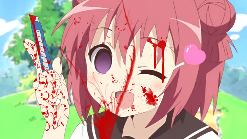 "burn it! this is what came up when I googled ""Yandare"" and ""Yuru Yuri"". oh the humanity."