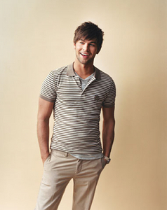 Chace in a striped t-shirt<3