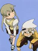 Maka Albarn and Soul Eater Soul doesn't wear a uniform, buuuut he does wear this and a سیکنڈ outfit to school, then again he's too cool for that shit.