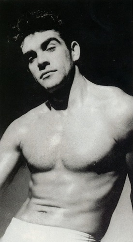 a young Sean Connery