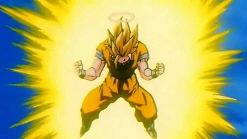 goku Powering Up to SS3 (DBZ)