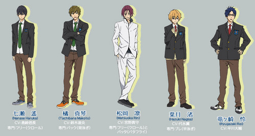 the guys from free iwatobi swim club