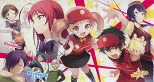"Hatakaru Maou-sama hits the dot first if wewe ask me. It doesnt have enough romance to call it a romance, but it is easily one of the most, if not the most, hilarious anime I have seen. Its title tells wewe enough when translated being ""The Devil is a Part Timer."" Basic jest of the story, The Devil is chased out and forced to flee into the human world where he is stripped of his abilities and strength and forced to make a living to survive with one of his demon lords. All things turn weird when 'The Hero', the person who chased him out to Earth also finds herself on Earth, also stripped of her powers."
