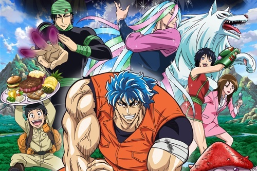 Toriko definitely has all of the above that you're looking for: Action, fantasy, and comedy :)