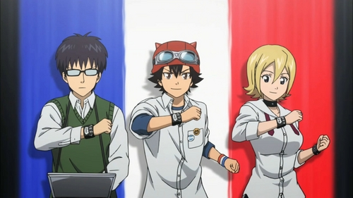 Sket Dance is a nice school comedy. It's not heavy on the romance, just the laughs, but there are pairings.