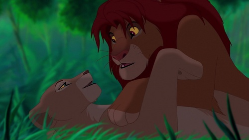 Well,although that's true for lions in the real world. That's unthinkable for Simba. He would never do that to Nala.