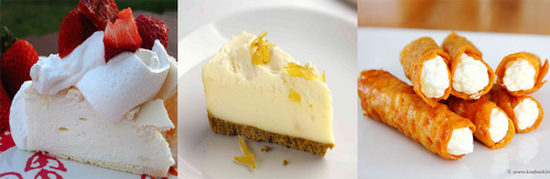 An equal tie between Pavlova, лимон cheesecake, and бренди snaps!! ♥♥♥ I'd kill for some бренди snaps right now T-T
