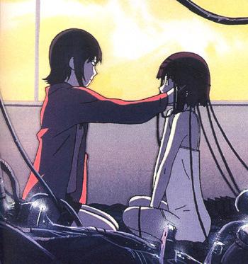 Lain Iwakura and Arisu Mizuki, my inayopendelewa anime friendship </3