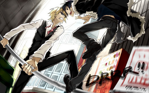 Shizuo and Izaya hate each other xD I'm on Shizuo's side cuz he's fucking awesome!~ :3
